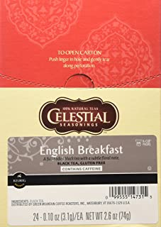 Celestial Seasonings, English Breakfast Black Tea, K-Cup Portion Pack for Keurig K-Cup Brewers (Pack of 24)