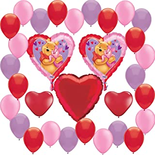 Combined Brands Winnie The Pooh Deluxe Valentines Day Balloon Decoration Bundle