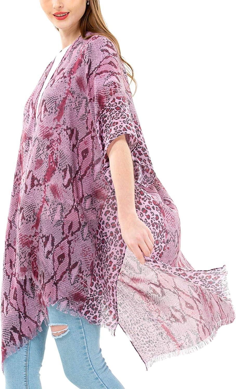 Women's Kimono Lightweight Beach Cover Up Chiffon Cardigan Sun Protective Summer Dress Floral Blouse Beachwear