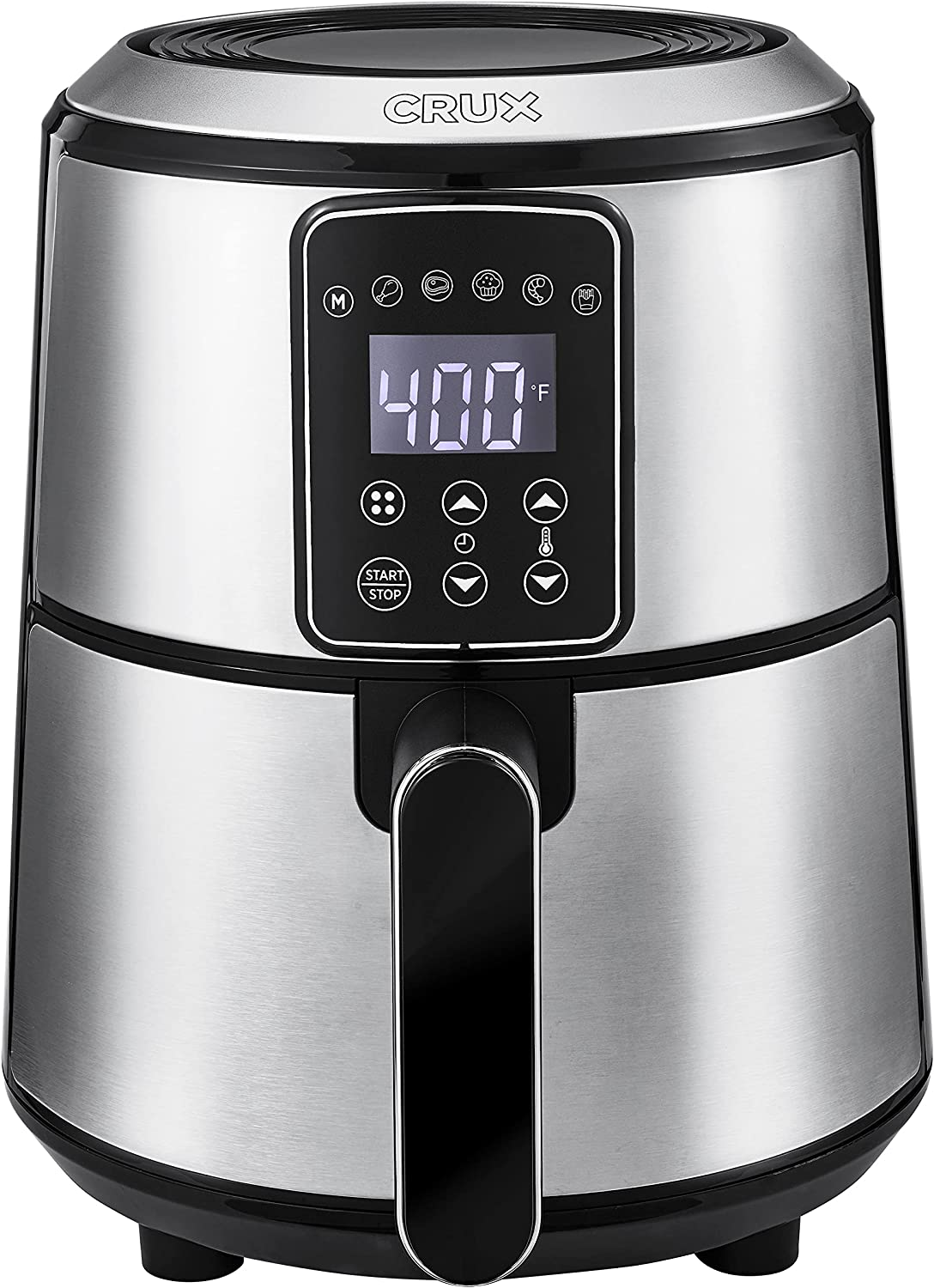 Crux 3QT Free Shipping New Digital Air Fryer Pre-Heat Fast Frying OFFicial store Faster No-Oil