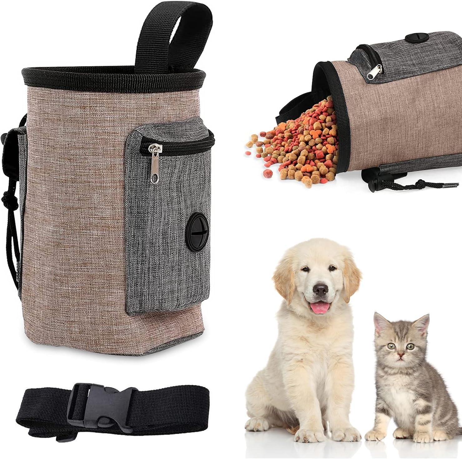 WELLXUNK Bolsa de Cintura Mascota Perro, Bolsas de Golosinas para Perros, Bolsa de Entrenamiento para Perros, Manos Libre Bolsa para Perros Comida, Bolsa para Aperitivos para Perros (M1)