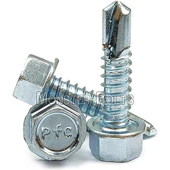 Snug Fastener 100 Qty #10 x 1//2 Zinc Hex Washer Head TEK Self Drilling Sheet Metal Screws SNG66