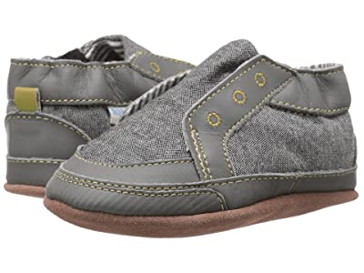 Robeez Stylish Steve Soft Sole (Infant/Toddler) (Stone) Boys Shoes