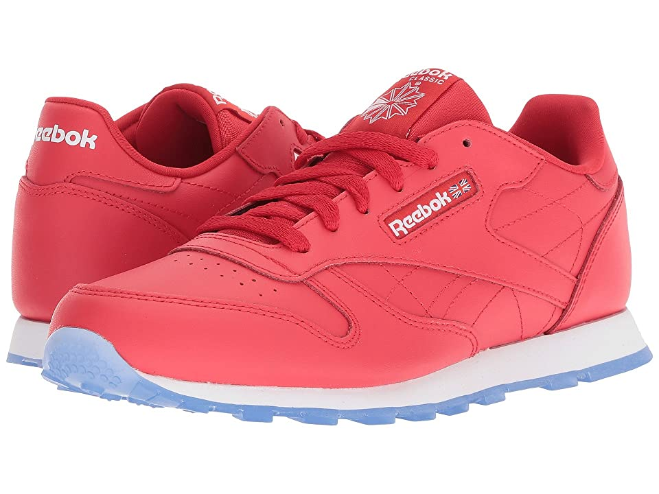 Reebok Kids Classic Leather (Big Kid) (Primal Red/White/Ice) Kids Shoes