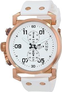 ساعة فيستال للرجال OBCS001 يو إس إس أوبسيفر كرونو سوداء وبيضاء