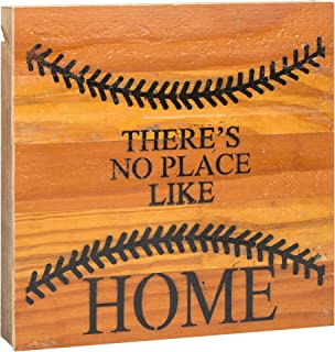 Second Nature By Hand Home Baseball Assorted Finish 10 x 10 Reclaimed Wood Decorative Wall Plaque Sign