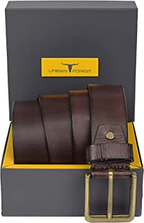 URBAN FOREST Men's Leather Casual Belt (Brown, Free Size)