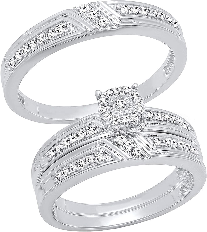 Dazzlingrock Collection 0.35 Carat ctw Men Round Outlet sale Cheap feature White Diamond