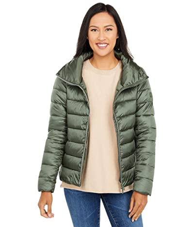 Save the Duck Iris Raised Collar Puffer Jacket (Thyme Green) Women