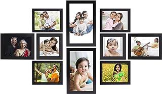 Amazon Brand - Solimo Collage Photo Frames, Set of 10,Wall Hanging (4 pcs - 4x6 inch, 2 pcs - 5x7 inch, 2 pcs - 6x10 inch,...