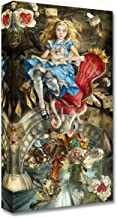 Disney Fine Art We're All Mad Here Treasures on Canvas Alice in Wonderland Mad Hatter March Hare 20 Inches x 10 Inches Reproduction Gallery Wrapped Canvas Wall Art by Heather Theurer