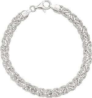 Ellen Tracy Sterling silver Byzantine Bracelet, Made in Italy