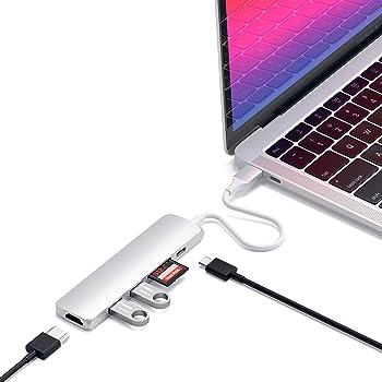 Satechi V2 スリム マルチ USBハブ Type-C 4K HDMI, カードリーダー, USBポート3.0x2(MacBook Pro 2016以降, MacBook Air 2018以降, iPad Pro など対応)(シルバー)