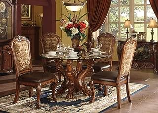 ACME Dresden Dining Table, Cherry Oak Finish