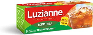 Luzianne Green Decaf Iced Tea Family Size, 24 Count