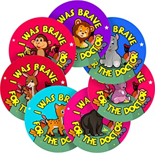 I was Brave for The Doctor Cute Baby Animals Reward Sticker Labels, 70 Stickers @ 1