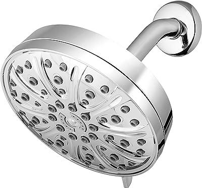 Waterpik XMT-633E High Pressure 6-Mode Rain Shower Head With PowerPulse Massage, 1.8 GPM, Chrome