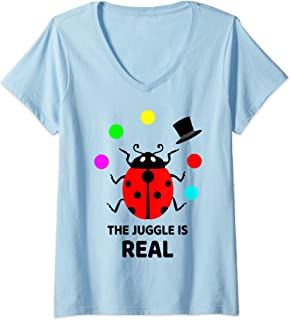 Womens Project Manager Gift - The Juggle is Real - Juggling V-Neck T-Shirt