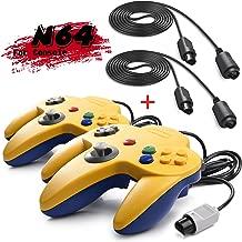 iNNEXT 2 Set Retro 64-bit N64 Gamepad Joystick para N64 Konsole N 64 Sistema y 6 ft/1.8 M N64 cordón alargador para N64 Controlador N64 Consola de Juego