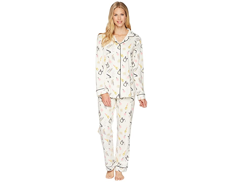 BedHead Long Sleeve Long Pajamas (Makeup Party) Women