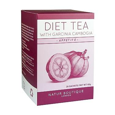 Natur Boutique Diet Tea 20 unidades - Exclusiva mezcla de té para ayudar a controlar tu peso: Con Garcinia Cambogia, Té Verde, Té de Java y Regaliz. De dulce sabor y sin aporte calórico
