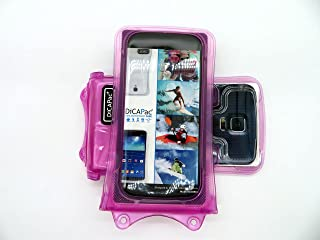 DiCAPac WP-C1 [Universal Waterproof Case] for LG Optimus L7 II Dual / L70 / L9 II / L90 | IPX8 Certified Underwater Protection (Pink)