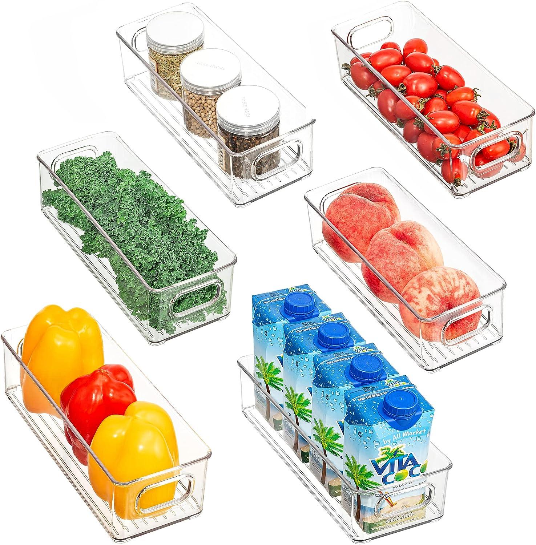 Redrubbit Clear Refrigerator Organizer Bins Handles of with Set Japan Maker New Nashville-Davidson Mall