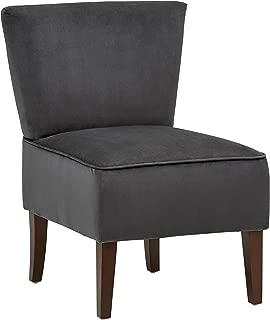 Rivet Ashworth Armless Velvet Accent Chair, 21.6