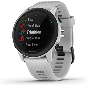 Garmin Forerunner 745, GPS Running Watch, Detailed Training Stats and On-Device Workouts, Essential Smartwatch Functions, Whitestone (010-02445-03)