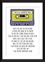 Pink Floyd - Comfortably Numb Lyrics - Unframed Print/Unframed Imprimir/Sin marco