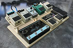 Guitar Effects Pedal Board Wood 2-Tier Platform Stand