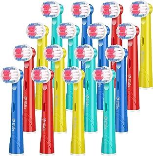Milos Testine per Spazzolino Elettrico per Bambini/Confezione da 16 Testine per Spazzolino Oral B Compatibili/Testine per ...