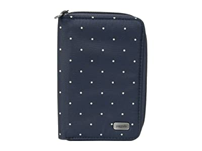 Pacsafe Daysafe RFID Blocking Passport Wallet (Navy Polka Dot) Wallet Handbags