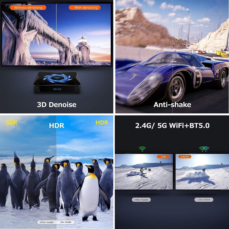 2G+16G HDMI Smart TV Box por Puersit Android TV Caja X96Q Android 10.0 RAM ROM TV Box con procesador Allwinner H313 Quad-Core Arm Cortex A53 Compatible con 2.4 GHz// 5.0 GHz WiFi 4K Ultra HD H.265