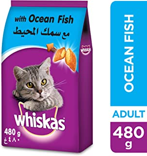 Whiskas Ocean Fish, Dry Food Adult, 1+ years, 480g