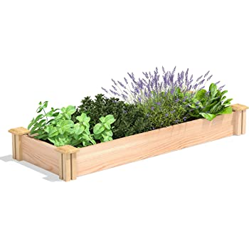 "Greenes Fence Premium Cedar Raised Garden Bed, 16"" x 48"" x 5.5"""