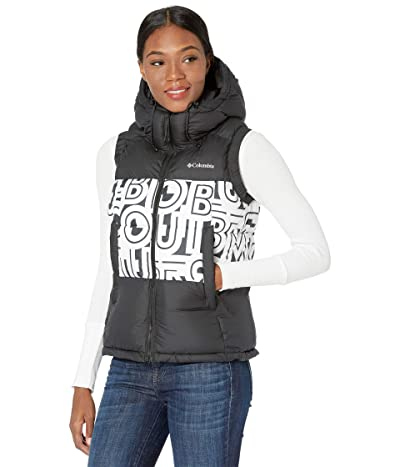 Columbia Pike Laketm II Insulated Vest (Black/White Typo Print) Women