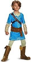 Link Breath Of The Wild Deluxe Costume, Blue, Medium (7-8)