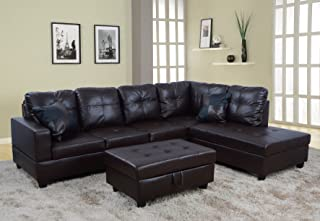 Beverly Fine Funiture Sectional Sofa Set, 93B Brown