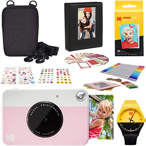 lowest KODAK new arrival PRINTOMATIC Instant 2021 Print Camera (Pink) Photography Scrapbook Kit outlet sale