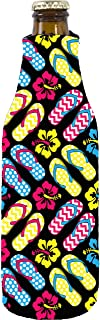 Coolie Junction Flip Flop Pattern Beer Bottle Coolie