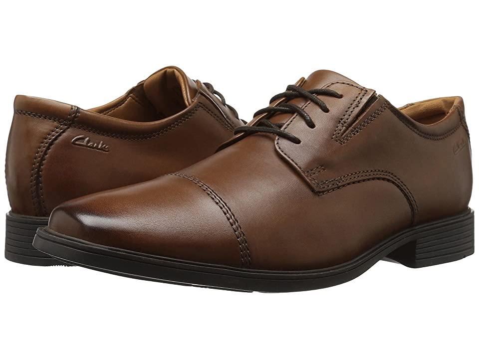 Clarks Tilden Cap (Dark Tan Leather) Men