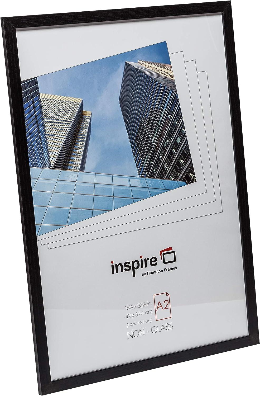A2 Contreplaqu/é Hampton Frames SORBONNE Cadre photo en papier effet bois Noir 42x59cm