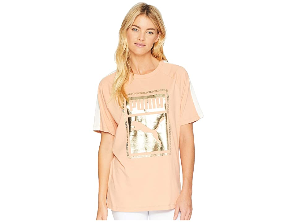 PUMA T7 Chains Tee (Dusty Coral) Women