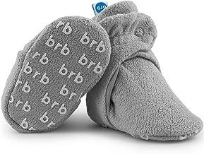 Fleece Baby Booties - Organic Cotton & Gripper Bottoms, Cozy Boys & Girls Bootie