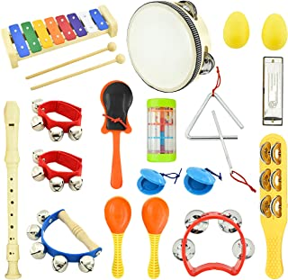 MUSICUBE Kids Musical Instrument Toys 14 Types 21 Pcs Musical Toys for Girls and Boys Educational Toys for Baby Toddler wi...