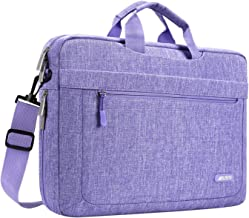 MOSISO Laptop Shoulder Bag Compatible with 13-13.3 inch MacBook Pro, MacBook Air, Notebook Computer with Adjustable Depth at Bottom, Polyester Messenger Carrying Briefcase Handbag Sleeve, Purple