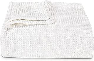 Vera Wang Waffleweave Blanket, Twin, White