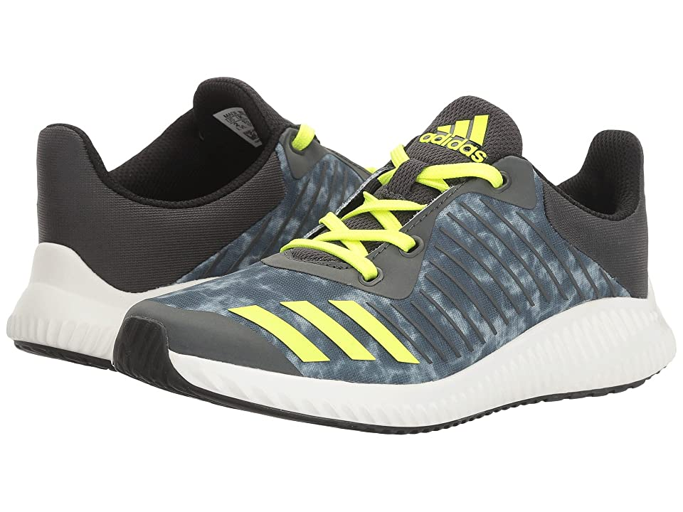 adidas Kids FortaRun Print (Little Kid/Big Kid) (Solid Grey/Solar Yellow/Black) Boys Shoes