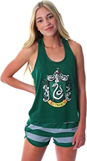 Harry Potter Women's Hogwarts House Crest Racerback Tank and Shorts Pajama Lounge Set